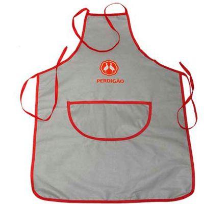 Sak´s - Avental com um bolso frontal, acabamento e alças em viés. Impressão em silk até quatro cores ou bordado com até 5.000 pontos.