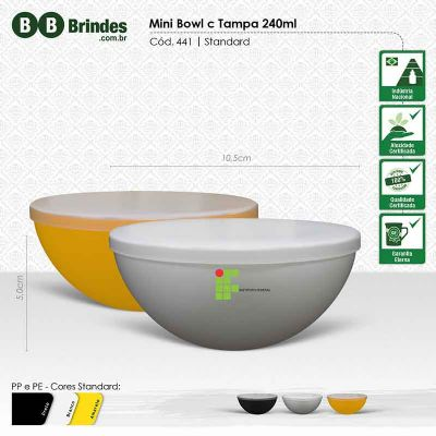 BB Grupo - Mini bowl c tampa 240ml