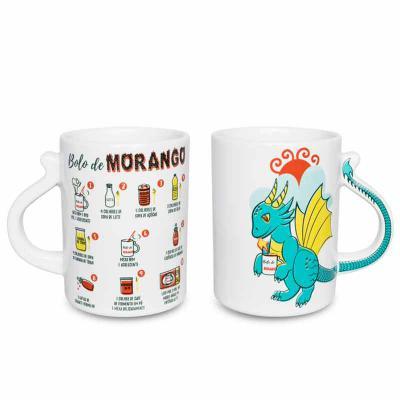 Caneca Joy Dragãozinho - Bolo de Morango - Oxford Gifts