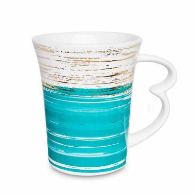 Oxford Gifts - Caneca Easy Ouro de Micro-ondas Piceladas Azul