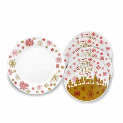 Oxford Gifts - Conjunto de pratos - Feliz Natal