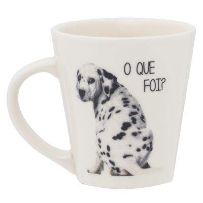 Oxford - Caneca em cerâmica Drop, decorada com 250 ml. Pode ser personalizada com a sua logomarca, confira!