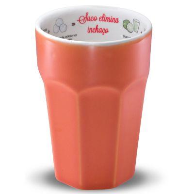 Copo com receita de suco funcional, elimina o inchaço com capacidade para 300ml - Oxford Gifts