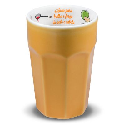Copo com receita de suco funcional, para pele e cabelo de 300ml - Oxford Gifts