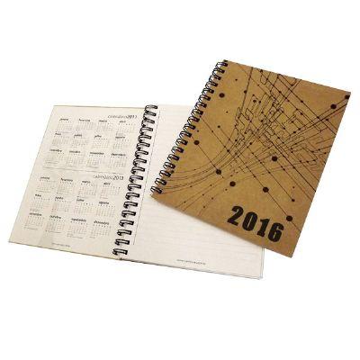 Caderno Ecológico Personalizado com capa em kraft natural.