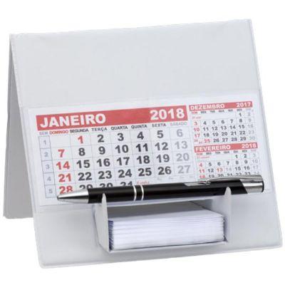 - Calendário personalizado de mesa em PVC, medindo 15,5 x 16,5 cm, com suporte para bloco de rascunho, com rascunho de 100 folhas e refil.  Sua marca pr...