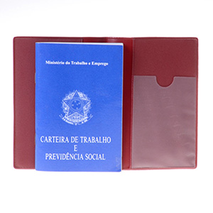 diport - Capa personalizada em PVC para carteira profissional, com personalização da logomarca em silk-screen. (Bolso para cartão PIS e bolsa para etiqueta de...