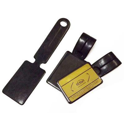 diport - Identificador de bagagem personalizado em couro sintético e personalização em baixo relevo.