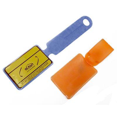 DiPort - Identificador de bagagem personalizado em PVC, com logomarca em silk-screen.