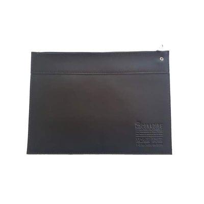 Pasta envelope de couro sintético com fechamento por zíper - DiPort
