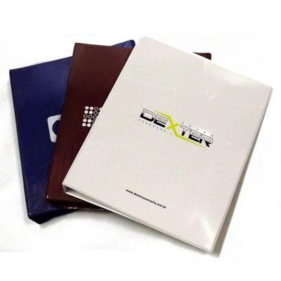 diport - Pasta fichário personalizada em laminado de PVC, tamanho A4: 32 x 25,5 x 4 cm, com personalização logomarca em silk-screen ou encarte.