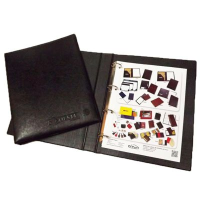 diport - Pasta fichário personalizada em couro sintético, tamanho A4: 32 x 25,5 x 45 cm, com personalização logomarca em silk-screen uma cor.