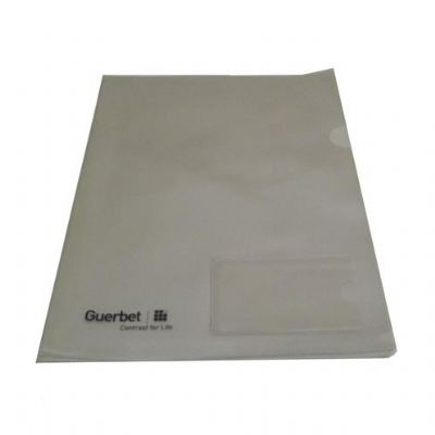 Pasta L em PVC transparente para organizar e transportar documentos