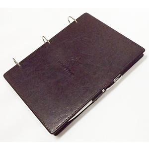 DiPort - Porta bloco de anotações personalizado com argolas articuladas, em couro sintético, acabamento pespontado fechamento trava com caneta, 200 folhas.