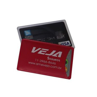 diport - Porta cartão unitário (crédito / banco) confeccionado em PVC