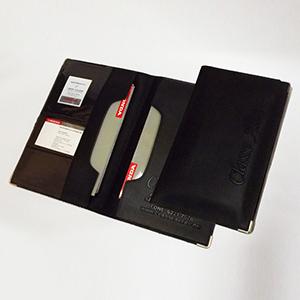 diport - Porta-manual de carros, confeccionado em couro sintético