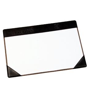 Risque-rabisque personalizado em couro sintético, para folhas tamanho officio ou A4 com gravação da logomarca em baixo relevo. - DiPort