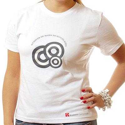 QW Camisetas e Bones - Camiseta tradicional em algodão fio 30.1 penteado e gola careca, diversas Cores