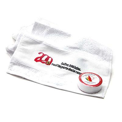 Dwin Soluções Promocionais - Toalha prensada, personalização na toalha e/ou rótulo