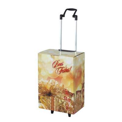 Trolley para acondicionar kits natalinos destinados a cesta de natal, contém uma caixa medindo 30...
