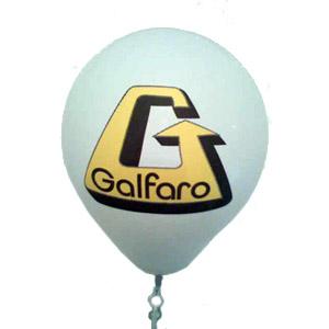 Balão em látex, tamanho 9 polegadas com impressão personalizada em duas cores.