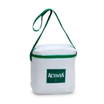 Bolsa térmica personalizada com capacidade para 7 litros.
