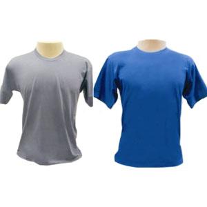 Camiseta gola careca, em meia malha fio 30.1.