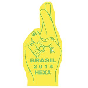 mpb-brindes - Mãos para torcida da copa do mundo