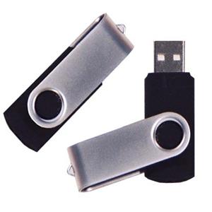 MPB Brindes - Pen drive modelo giratório, com capacidade para 2 Gb.