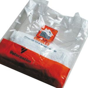MPB Brindes - Sacola em PVC cristal, com alça de ombro em PVC cristal.
