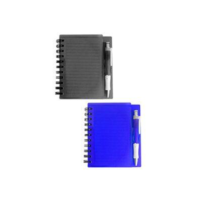 agp-brindes - Bloco de anotações com capa plástica e caneta