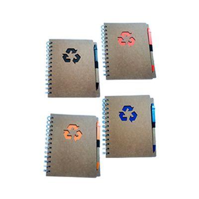 agp-brindes - Bloco de anotações ecológico, acompanha caneta