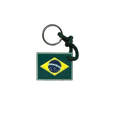 AGP Brindes - Chaveiro emborrachado com bandeira Brasileira