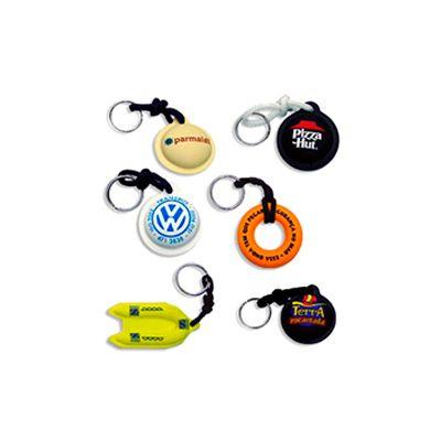 Chaveiro flutuante personalizado, diversos modelos com cordão de nylon e argola de metal super resistente - AGP Brindes