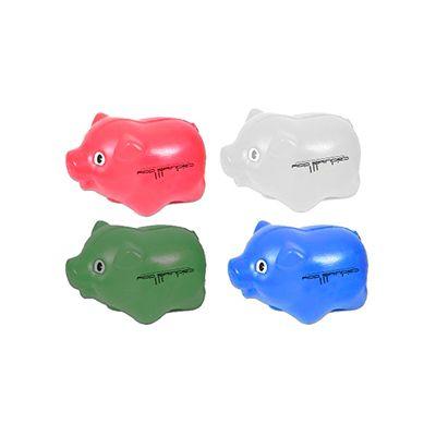 AGP Brindes - Cofrinho no formato de porco personalizado em diversas cores.