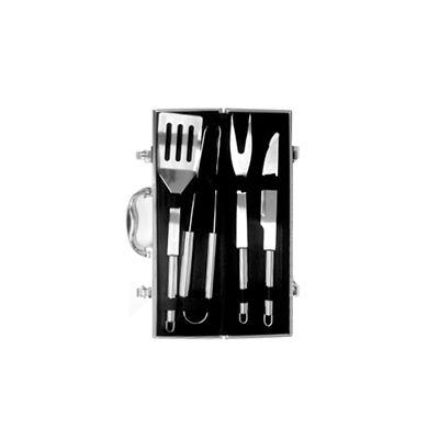 AGP Brindes - Kit churrasco com 4 peças em linda maleta