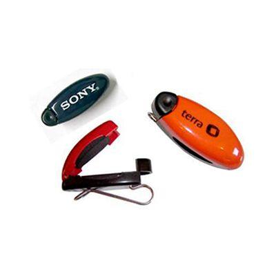 AGP Brindes - Porta-óculos personalizado de plástico com haste em metal e trava
