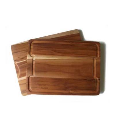 Tábua em madeira nobre Teca medindo 44,0 x 30,0 x 1,7cm