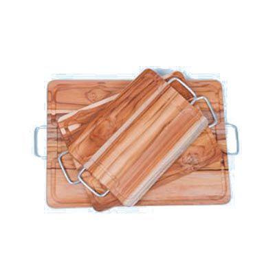 Tábua personalizada para corte, confeccionada em madeira nobre Teca com alças laterais em alumínio. Disponível em 3 tamanhos. Elegância e praticidade... - Arte Perotto