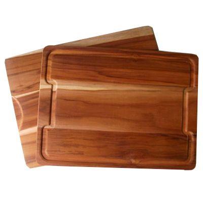 arte-perotto - Tábua para corte personalizada retangular, confeccionada em madeira nobre Teca. Disponível em 2 tamanhos diferentes. Sua marca em destaque na mesa de...