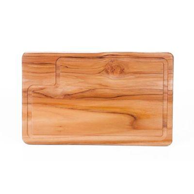 arte-perotto - Tábua para corte personalizada, confeccionada em madeira nobre Teca em formato retangular. Medidas: 32,0 x 20,0 x 1,2 cm. Leve praticidade a seus cl...