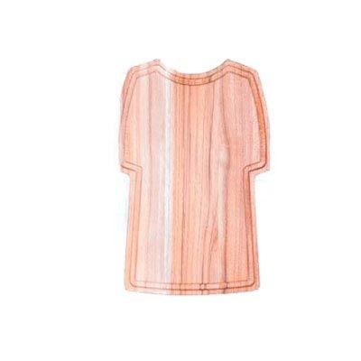 Tábua para corte personalizada, confeccionada em madeira nobre Teca em formato de camisa estilizada medindo 32,0 x 21,0 x 1,2 cm. Com design moderno e... - Arte Perotto