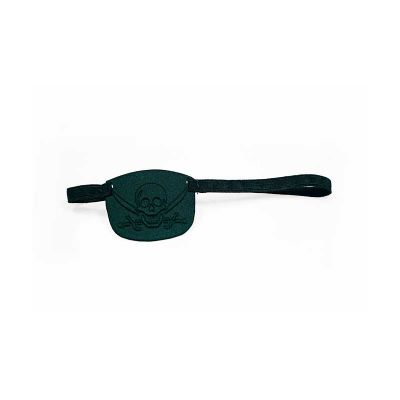 jomo - Tapa olho termomoldado com revestimento externo e interno em poliéster preto. Ajuste com elástico. Dimensões: 60 x 50 x 3 mm