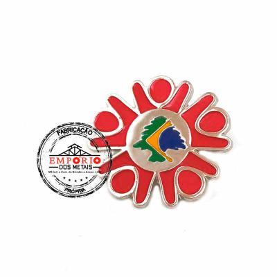 Empório dos Metais - PIN RELEVO NIQUELADO