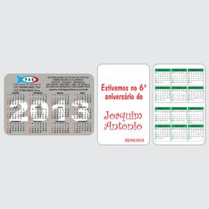 sevencard - Calendário de bolso.