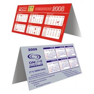 Sevencard - Calendários de mesa em PVC.