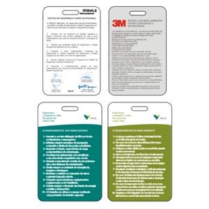 sevencard - Cartão de política de trabalho em PVC.
