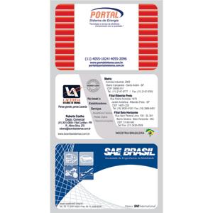 Cartão de visita com gravação personalizável. - Sevencard