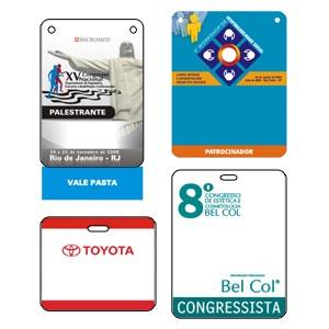 sevencard - Credencial em PVC com gravação personalizável.