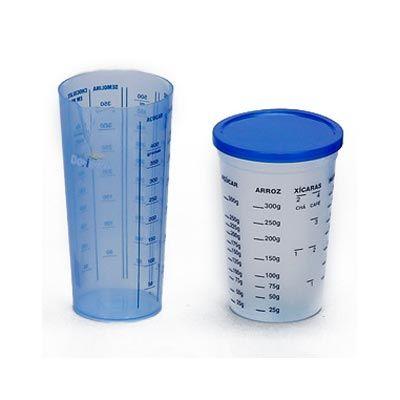 Copo plástico personalizado medidor, com tampa e sem tampa. Contém impresso a graduação. - Estilo Brindes